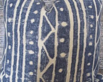 Designer Pillow Cover - Lumbar, 16 x 16, 18 x 18, 20 x 20, 22 x 22, 24 x 24 - Kravet INDICAN.516 Blue
