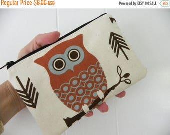 Owls Medium zipper accessory pouch