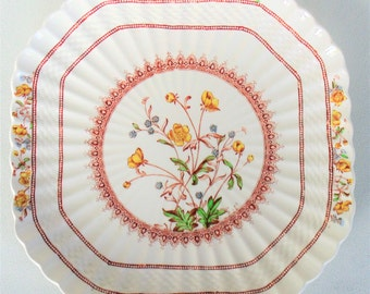 Copeland Spode Buttercup Square Plate IN BEAUTIFUL CONDITION
