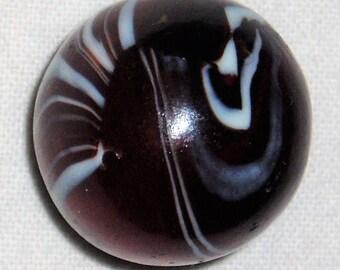 "Vintage Toy Marble CAC Christensen Striped Transparent, 27/32"""