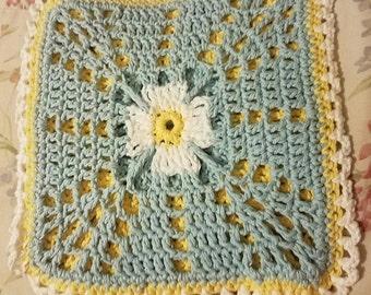 Ready to Ship--Extra Large Crochet Flower Hotpad--Trivet