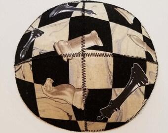 Chess Kippah Yarmulke Saucer Style