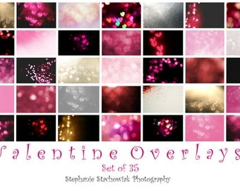 Valentines Overlay, Valentines Bokeh Overlay, Heart Overlay,Valentine Heart Bokeh Overlay,Textures,Red, Pink, Heart