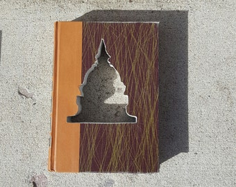 Upcycled Book Decor - Brown Capitol