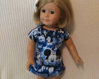 18 inch Doll (modeled by American Girl) Character knit dress with hair bow
