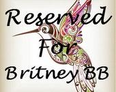 Reserved for Britney Bacon Barnard