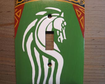 Lord of the Rings Flag of Rohan Switch Plate