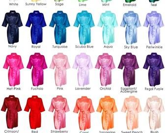 Silk Robes for Bridesmaid, Satin Bridesmaid Robes, Bridesmaids Robes, Bridesmaid Robe, Satin like Silk Bridemaid Robe, Bride Silk Robe