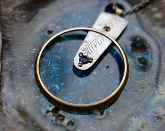 "Watch Parts Pendant ""Dnoces"" Elegant Intricate Mechanical Watch Sculpture Necklace Industrial Steampunk Wearable Art Mechanical Mind"