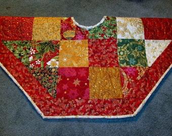 30 Inch Reversible Christmas Tree Skirt or Table Topper