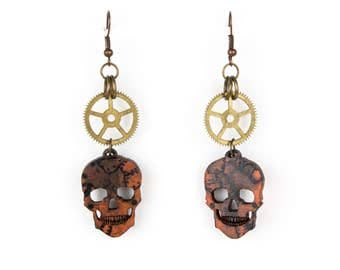 Steampunk Wasteland Gear Earrings