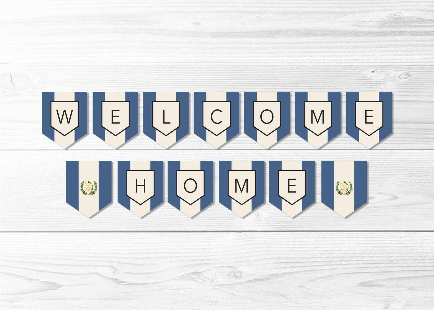 welcome home guatemala flag banner guatemalan flag banner