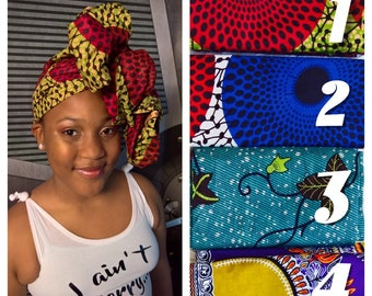 African clothing, African Kitenge Headwrap, Yellow/Black Ankara Headwarp fabric, Ankara head wraps, African Head wraps for women,