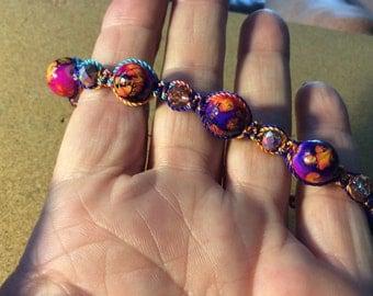 Multi color macramé bracelet