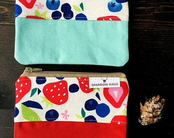 Deluxe Mini Zipper Pouch with Accent Color