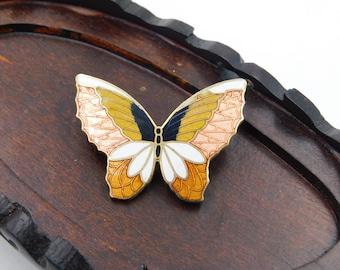 Vintage Cloisonne Butterflies Butterfly Pin or Brooch