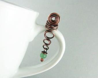Dread Bead Copper Wire Wrapped Jewelry Braid Jewelry LOC Cuff Wire Hair Bead Hair Jewelry Copper Hair Bead Boho Dread Bead Copper Jewelry
