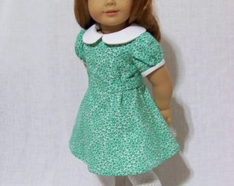 1940s dress for Molly or Emily American Girl or My Twinn 18 inch dolls