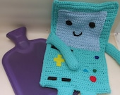 Crochet Beemo fro Adventure Time Hot Water Bottle Cosy Cover - With Hot Water Bottle