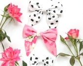 2 Matching Floral Hair Bows