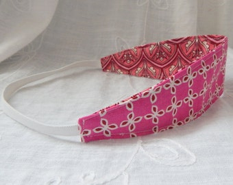 Fabric Reversible Headband, Pink Headband