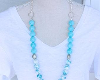 UNC North Carolina Beaded Necklace