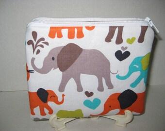 Elephants Women Zipper Pouch