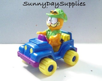 Vintage McDonalds Toy, Garfield on a 4-Wheeler, 1978, Happy Meal Toys, Still in Bag, Never Used, Garfield Mini Car