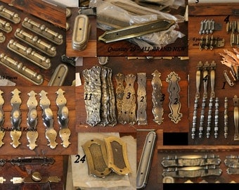 182 Pieces of Vintage Hardware for Cabinets Drawers Doors FREE DOMESTIC SHIPPING