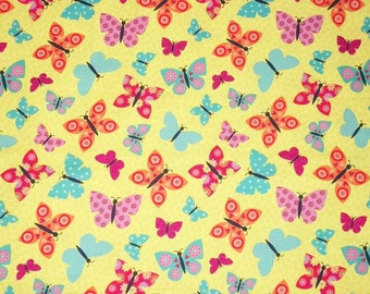 Butterfly Fabric, By The Yard Fabric, Studio E Fabrics, Wings-N-Things Collection, Sewing Fabric, Quilting Fabric, Spring Fabric