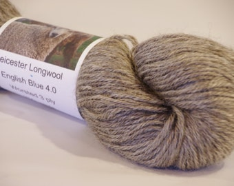 English Blue Persuasion 5.0 100% Leicester Longwool Yarn from a PA Century Farm