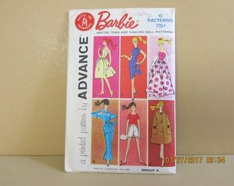 Vintage Barbie Sewing Pattern Advance 6 Outfits 1960 Fashion 689b