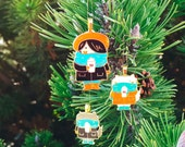 Purrfect Holiday Ornaments & Key Rings ~ Winter Furrends Collection