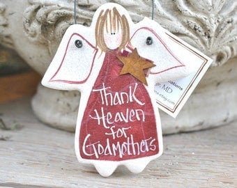 Godmother Birthday Christmas Gift Mother's Day Xmas Gift Salt Dough Ornament