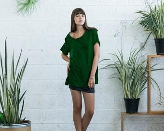 Sale 70 Off Crazy Sale 70 Off Christmas Sale Velvet Top, Green velvet shirt , short sleeve velvet shirt.