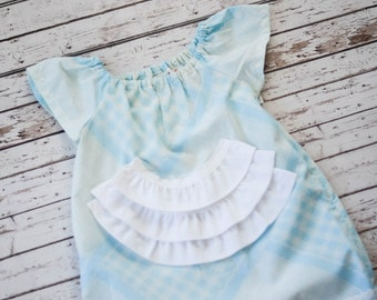 Vintage Blue Pillowcase Dress Size 2T
