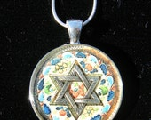 Star of David Pendant, Star of David Necklace, Judaic Pendant, Judaica Jewelry, Gift, Handmade Necklace, One of a Kind Necklace, Magen David