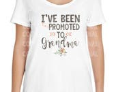 Pregnancy Announcement - Promoted to Grandma Shirt - Surprise Pregnancy Reveal Idea - Surprise New Grandma