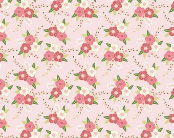 SALE Wonderland Floral Pink C5181 by Riley Blake, Sold In Half Yard Amount