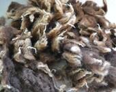 sheep fleece, shetland, natural colour, felting supply, wet felting, dry felting, wool, brown, raw wool