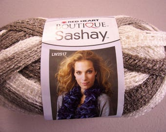 Red Heart Boutique Sashay, ruffle yarn, color: Shuffle, new, 100g / 30 yd