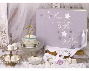 Grand album photo de naissance Baptême étoiles mille et une étoiles