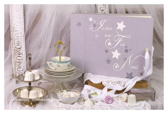 Nice Album photo stars child souvenirs baby shower girl or boy Baptism guestbook scrapbooking