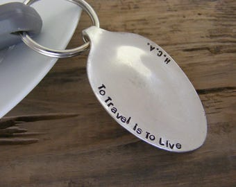 Hand Stamped Spoon Keychain Hand Stamped Spoon Key Chain