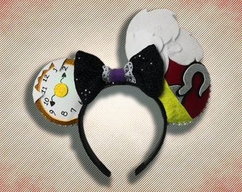 Pirate Villain Mouse Ear Headband with Bow