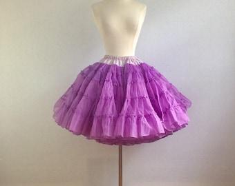 Vintage 50s purple petticoat - 1950s purple full skirt crinoline - 50s swing dance petticoat