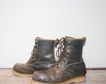 SALE 9 D | Men's HY Test Steel Toe Work Boots