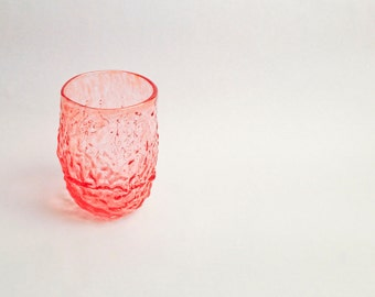 Sea Coral Glass in Pale Peach / Handblown Glass / Transparent Sea Glass / Holiday Gifts /Entertaining