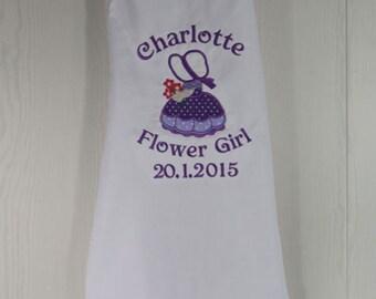 Personalised Flower Girl Apron