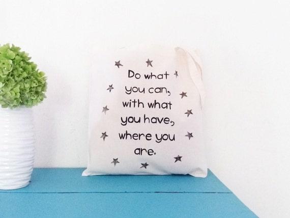 tote bag handpainted quote tote etsy entrepreneur work tote